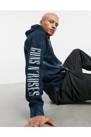 Pull&Bear Join Life Guns N' Roses hoodie in blue -Multi