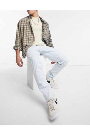 Pull & Bear Slim jeans in vintage bleach wash-Blue