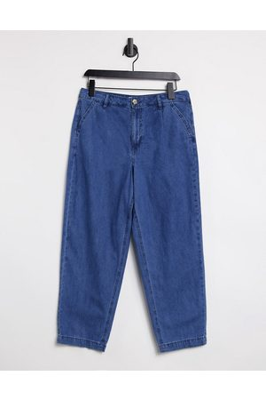 warehouse Pleat front pants in -Blue