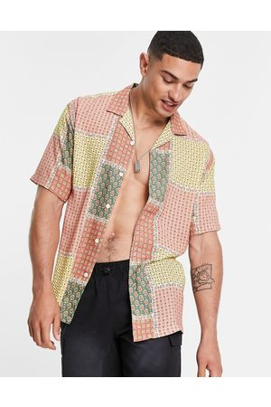 Pull&Bear Revere shirt with patchwork print