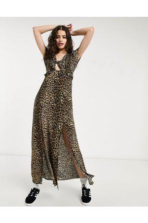 Oasis Midi dress in print-Multi
