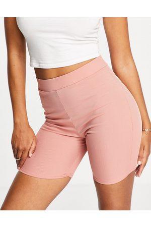 Club L Slinky shorts in co-ord-Orange