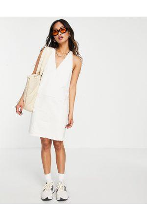 Whistles V-neck denim dress in -White