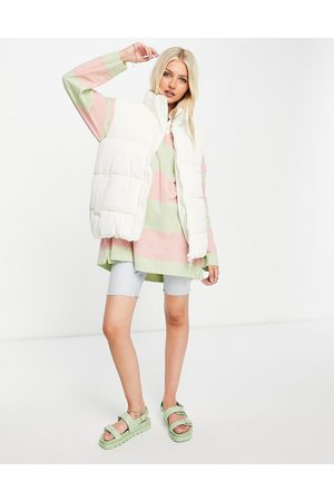 Monki Lacy recycled padded sleeveless jacket in