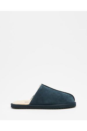 Staple Superior Shearling Lined Slippers - Slippers & Accessories (Navy) Shearling Lined Slippers