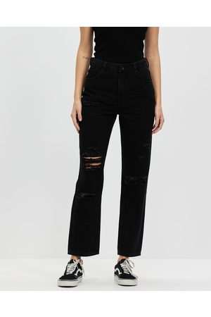 Silent Theory Cali Straight Leg Jeans - Crop (Destroyed ) Cali Straight Leg Jeans