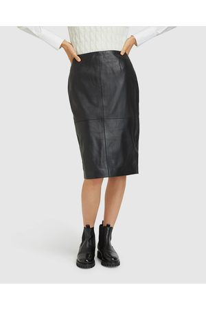 Oxford Harlow Leather Pencil Skirt - Leather skirts Harlow Leather Pencil Skirt