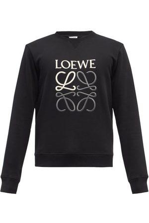 Loewe Men Sweatshirts - Anagram-embroidered Cotton-jersey Sweatshirt - Mens