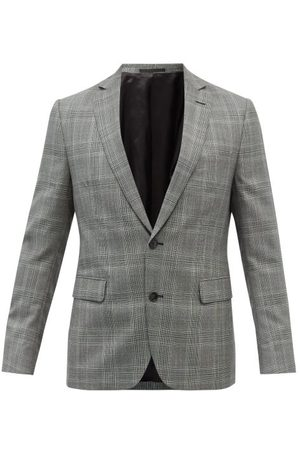 OFFICINE GENERALE Men Outdoor Jackets - 375 Prince Of Wales-check Wool Suit Jacket - Mens - Print