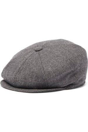 Brunello Cucinelli Wool Flat Cap - Mens - Dark