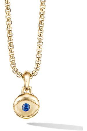 David Yurman Men Necklaces - 18kt yellow Evil Eye sapphire pendant