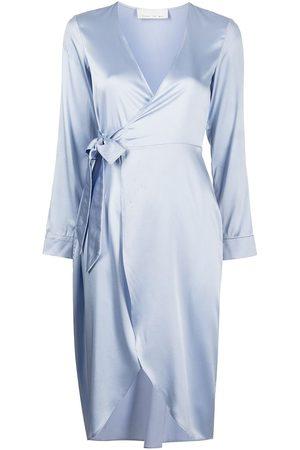 Fleur Du Mal Women Bathrobes - Wrap-tie silk robe