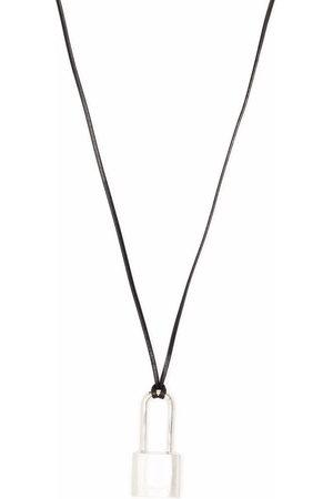 AMBUSH Necklaces - SMALL PADLOCK NECKLACE SILVER NO COLOR