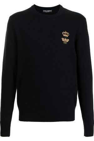Dolce & Gabbana Men Sweaters - Logo-patch jumper