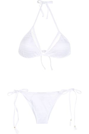 Brigitte Tie-fastened halterneck bikini