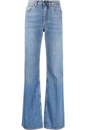 Etro High-waisted flare-cuff jeans