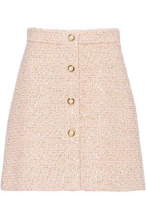 Miu Miu Sequin-embellished tweed skirt