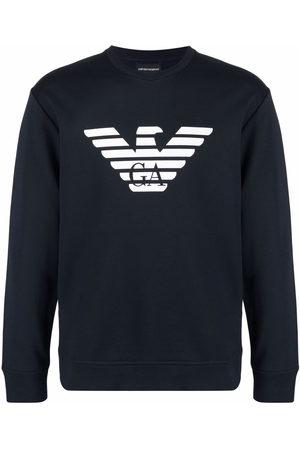 Emporio Armani Logo-print crew-neck sweatshirt