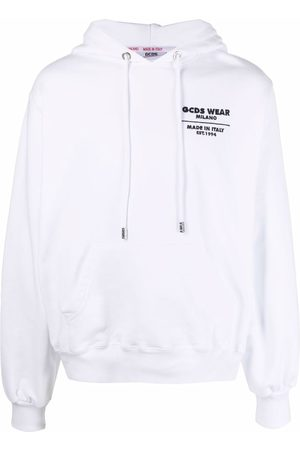 GCDS Pullover logo-patch hoodie