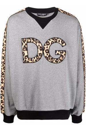 Dolce & Gabbana Leopard-print logo patch sweatshirt