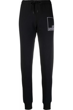Love Moschino Embroidered-logo track pants