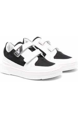 Emporio Armani Two-tone touch-strap sneakers