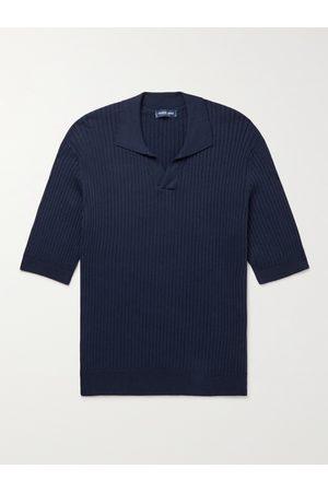 FRESCOBOL CARIOCA Ribbed Cotton and Silk-Blend Polo Shirt
