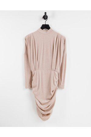 Ax Paris Slinky cowl mini dress in -Neutral