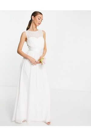Little Mistress Bridal structured maxi dress in white