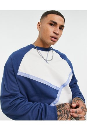 ASOS Co-ord oversized sweatshirt with blocking and numerals tape