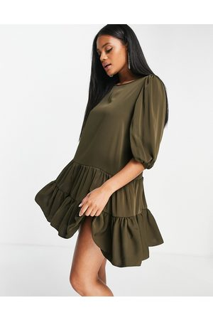 Ax Paris Tiered smock dress in -Green