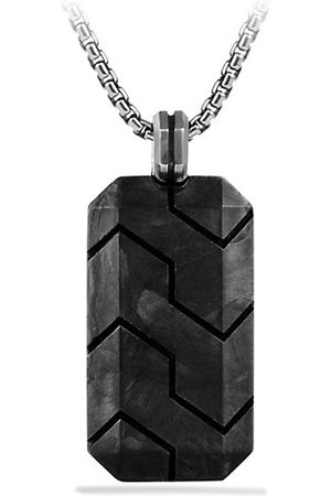 David Yurman Men Necklaces - Forged Carbon & Sterling Tag