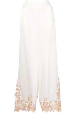 Kiki de Montparnasse Orchid silk palazzo trousers