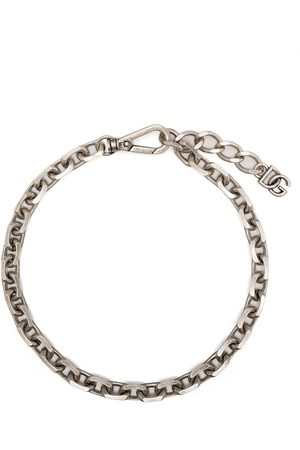 Dolce & Gabbana Chain-link logo-plaque necklace