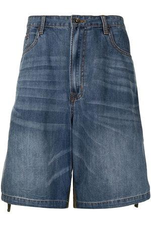 FIVE CM Men Shorts - Two-tone denim shorts