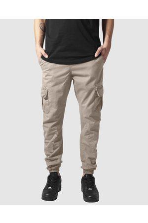Urban Classics Men Cargo Pants - UC Cuffed Cargo Jogging Pants - Cargo Pants (Sand) UC Cuffed Cargo Jogging Pants