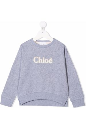 Chloé Kids Embroidered logo sweater