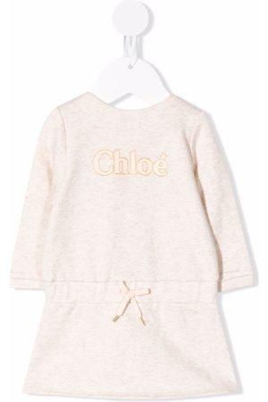 Chloé Kids Logo print sweater dress