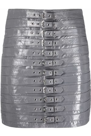 Manokhi Dita belted leather skirt