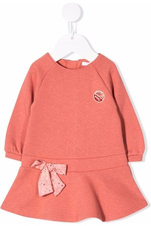 Chloé Kids Baby Casual Dresses - Bow detail sweater dress