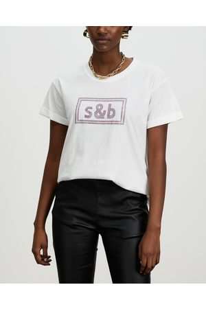 Sass & Bide ICONIC EXCLUSIVE The New Brave Tee - T-Shirts & Singlets (Ivory & ) ICONIC EXCLUSIVE - The New Brave Tee