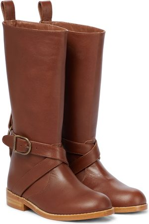 Chloé Kids Knee-high leather boots