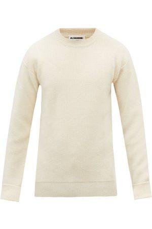 Jil Sander Men Sweaters - Crew-neck Wool Sweater - Mens - Cream
