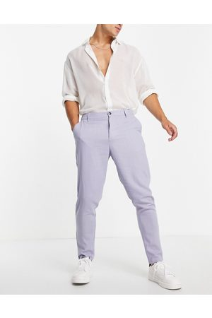 ASOS Linen mix tapered pants in pastel