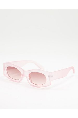 ASOS Square sunglasses in with light lens