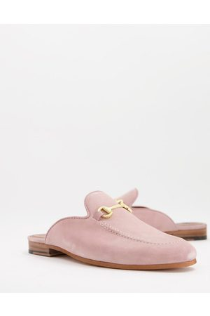 WALK LONDON Men Loafers - Terry bar backless mule loafers in suede