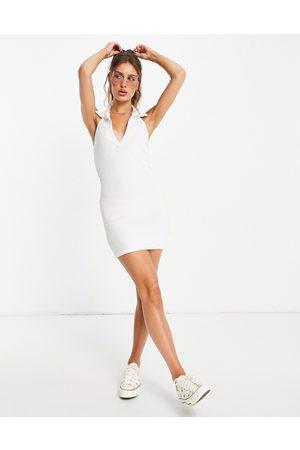 ASOS Women Halterneck Dresses - Collared halter mini dress in towelling