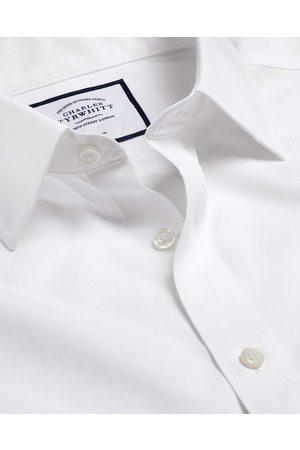 N O-Iro Tyrwhitt Cool Popli Short Sleeve Cotto Busiess Shirt - Size 38/S by Charles Tyrwhitt