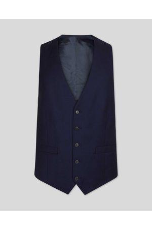 N Birdseye Travel Suit Wool Waistcoat - Ik Size w38 by Charles Tyrwhitt