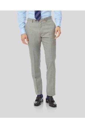 Charles Tyrwhitt Sharkski Travel Suit Trousers - Silver Size W76 L97 by Charles Tyrwhitt